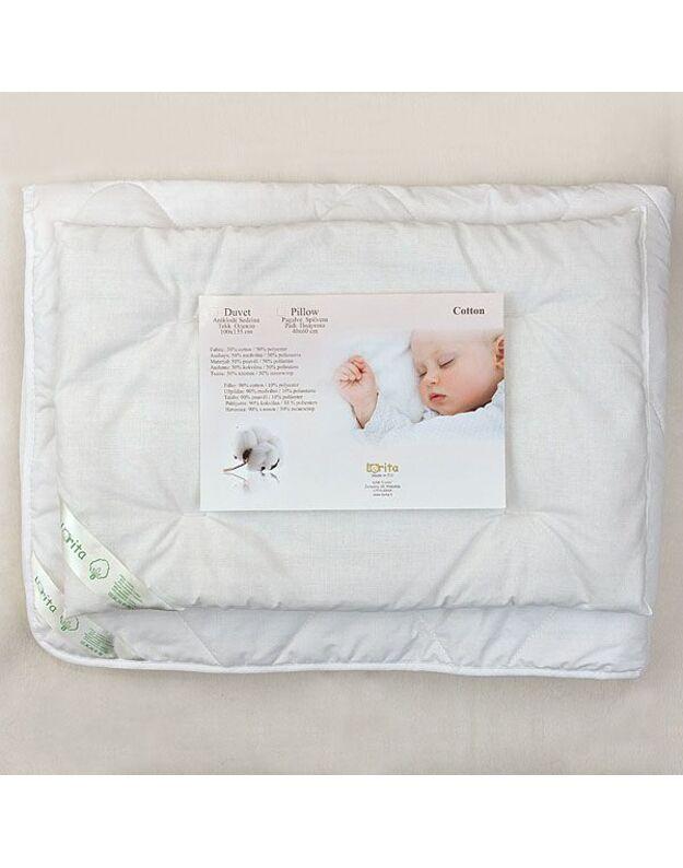 LORITA Antklodės ir pagalvės komplektas su medvilne, art. 367