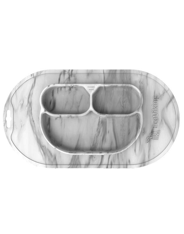 ECO VIKING silikoninė lėkštutė su padėklu, EV8